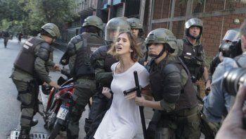 Damiana había sido detenida por Gendarmería por el Congreso.