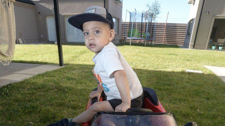 Milo tiene 3 años. El primer tratamiento ya dio resultado.