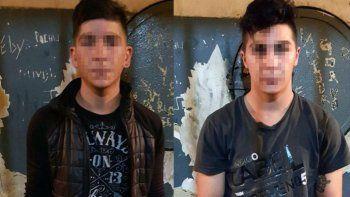 Los hermanos detenidos, Ezequiel Andrés (20) y Sergio Rivarola (27).