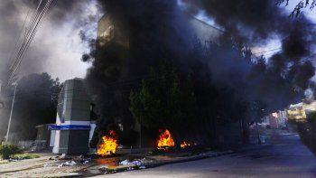 Hubo incendios y heridos por la represión en Río Gallegos.