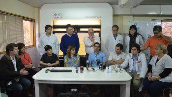 Profesionales del Castro Rendón que en 2017 realizaron el primer trasplante renal en un hospital público patagónico.