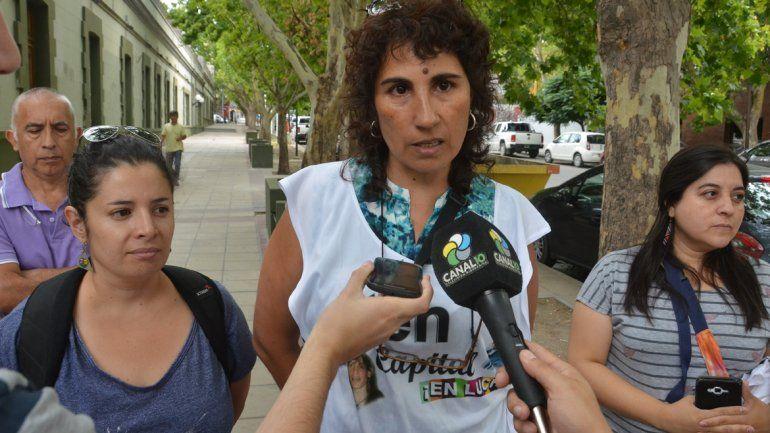 Angélica Lagunas, de ATEN Capital, se puso al frente del reclamo.