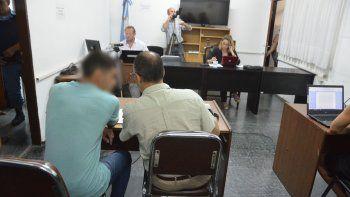 Newen Rodríguez, el otro acusado, en audiencia.