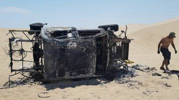 Así quedó la camioneta de Alicia Reina tras el incendio