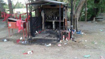 Las llamas destruyeron el santuario ubicado en la Ruta 7.