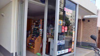 Así quedó el vidrio del negocio ubicado en calle Fotheringham al 200.