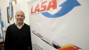 Juan Silenzi, gerente de LASA, dijo que habrá vuelos en Semana Santa.