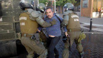 treinta detenidos en protestas contra bachelet