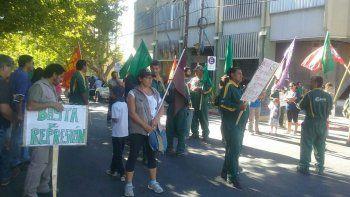 trabajadores de mam protestaron frente a casa de gobierno