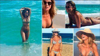 a los 51, flavia se mostro muy sexy en las playas de punta