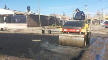 Hubo repavimentación en distintas calles de la capital.