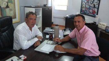 Marcelo Zúñiga se reunió con el presidente de CALF, Carlos Ciapponi.