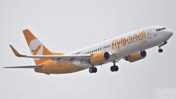 la aerolinea low cost flybondi admitio una falla tecnica menor en su vuelo de bautismo en cordoba