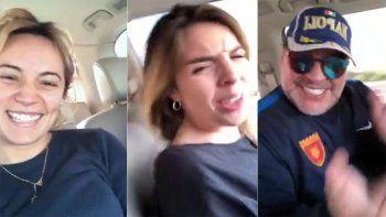 la reaccion de dalma maradona en un video que filmo rocio oliva