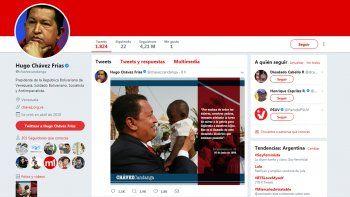 Sorpresa: reactivaron la cuenta de Twitter de Chávez