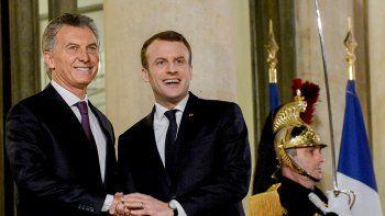 Macri con Macron: destacó posible acuerdo entre Europa y el Mercosur