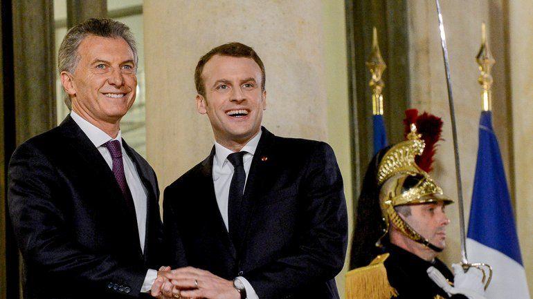 Macri resaltó a Macron la oportunidad para un acuerdo entre Europa y el Mercosur