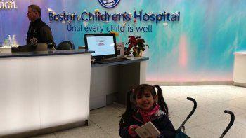 Bianca, en el Boston Children Hospital de Estados Unidos.