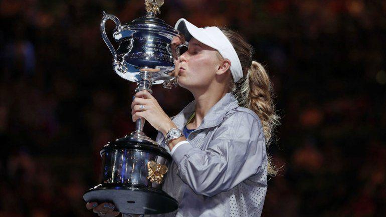 La danesa Caroline Wozniacki logró su primer título del Grand Slam