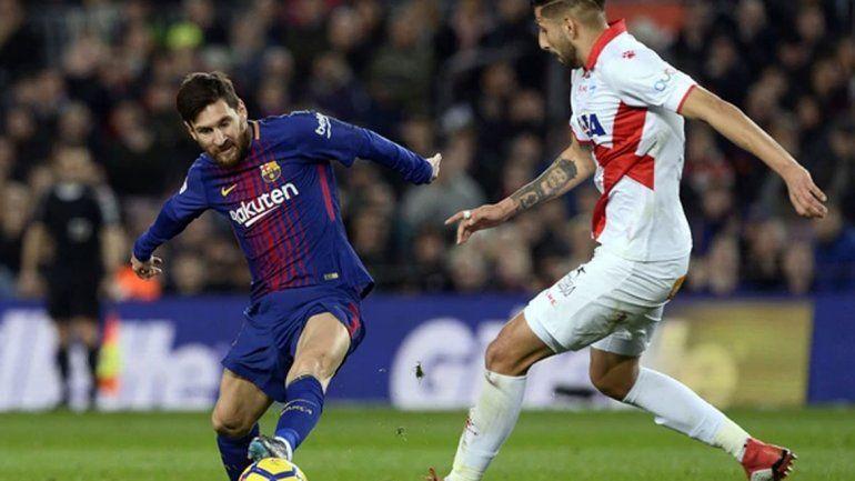 Con un golazo de tiro libre del astro Lionel Messi