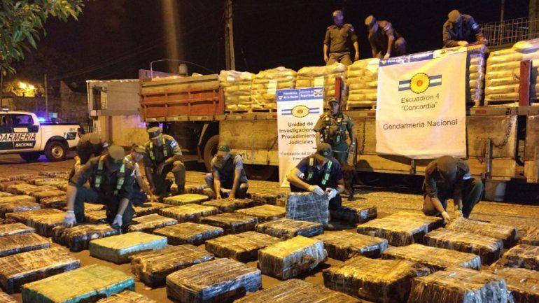 Gendarmería detectó el cargamento en Entre Ríos: venía de Misiones.