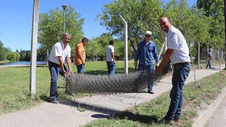 La remoción del alambrado se realizó durante el fin de semana.