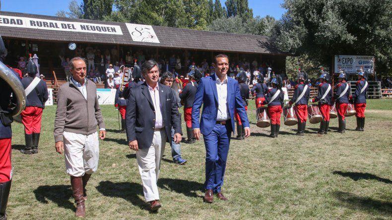 El gobernador presidió los actos de la Expo Rural Neuquén en Junín.