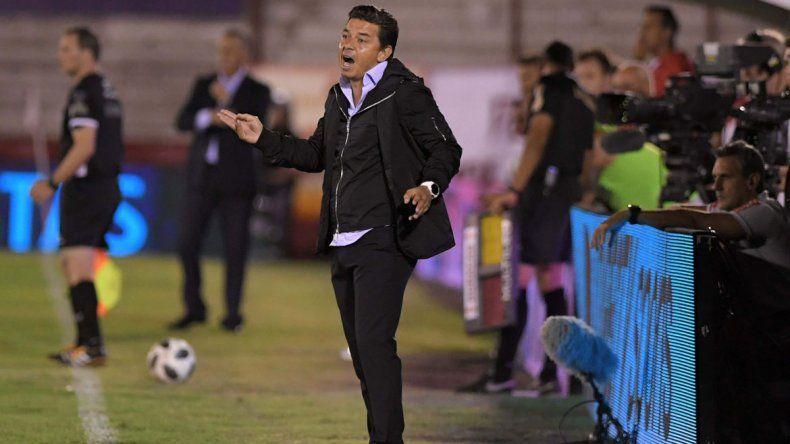 Gallardo se quejó del árbitro Germán Delfino y lamentó quedar tan lejos.