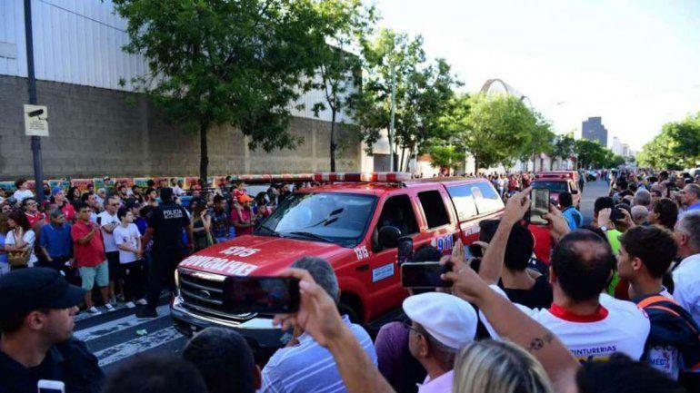 Los bomberos registraron el Tomas Ducó por motivos de seguridad.