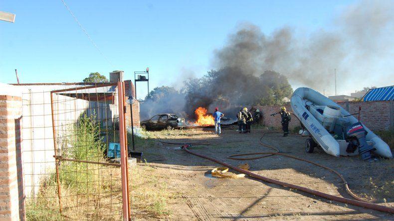La vivienda quedó totalmente destruida por la explosión.