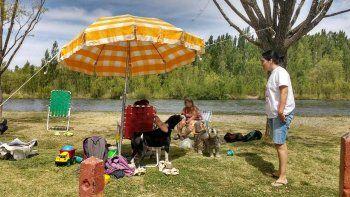 Con las mascotas a otra parte: la Muni corrió del río a  243 bañistas