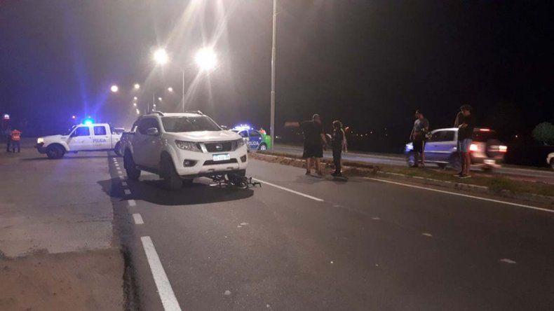 Sólo fue un susto: el sindicalista Micheli atropelló a una ciclista