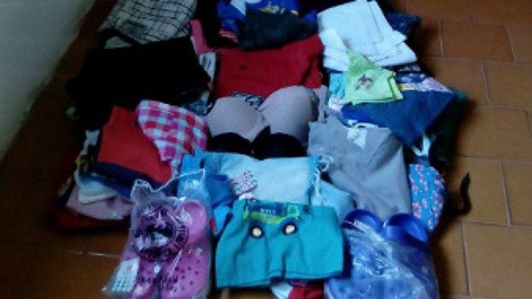 Recuperan importante botín robado de un local de ropa