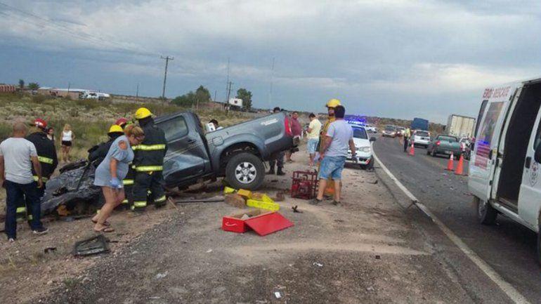 Un muerto en otro choque frontal sobre la Ruta 151