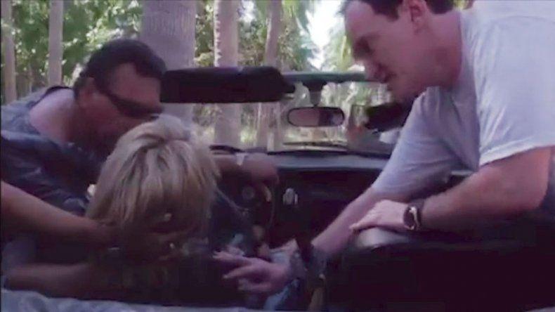 La actriz mostró la grabación del accidente donde se ve al director.