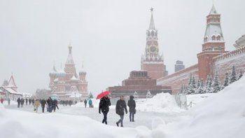 Moscú sufrió la mayor tormenta de nieve jamás registrada