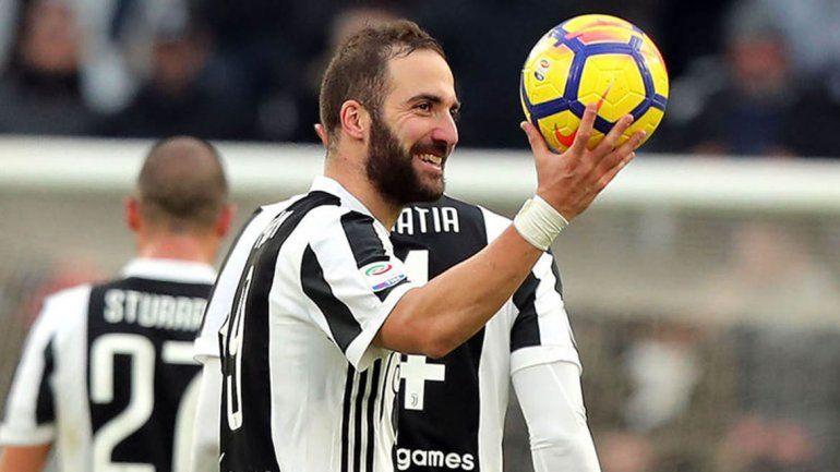 Pipita tuvo su primer hat trick con la camiseta del Juventus