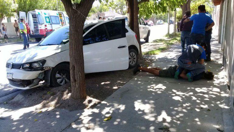 El accidente ocurrió el martes en calles Cacheuta y Remigio Bosch.