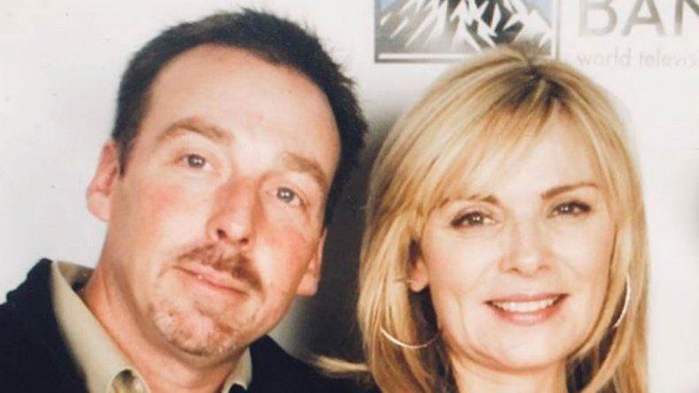 La foto que publicó Kim Cattrall con su hermano Chris.