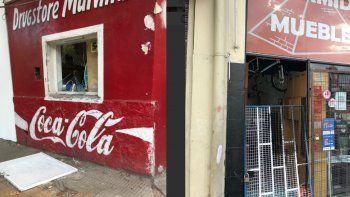 Roturas de vidrios e intento de robo en dos locales del centro