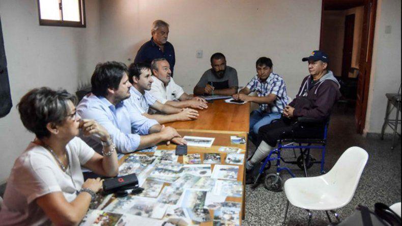 Una reunión entre ATE y el Gobierno el pasado 17 de diciembre.