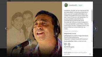 El duro mensaje de Maradona por la foto del Chino