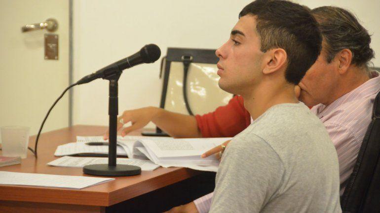 Newen Rodríguez durante la audiencia del martes pasado.