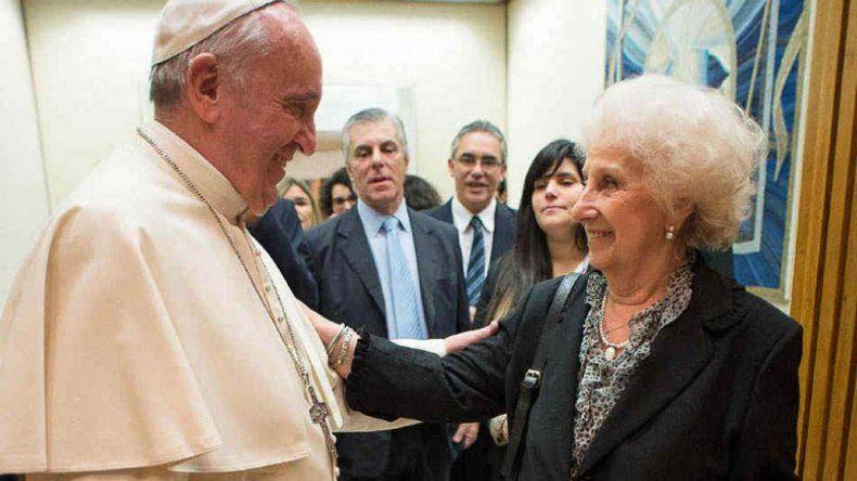 Estela de Carlotto, tras encuentro con el Papa: Está preocupado por el país