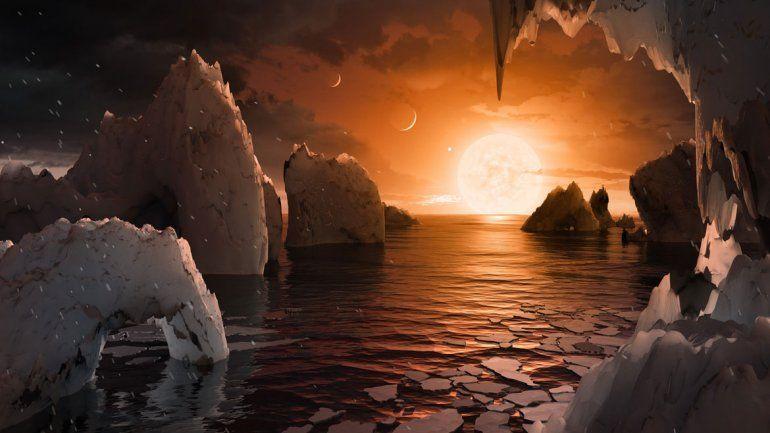 Los siete planetas hallados están formados principalmente de roca y agua.