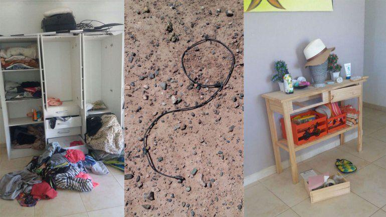 El Tenis Club de Neuquén sufrió un golpe muy bien preparado. En algunas viviendas dejaron todo revuelto y barretearon las puertas. En la búsqueda encontraron guantes de vaqueta y cables.