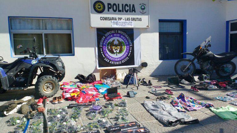 Neuquinos hacían turismo delictivo en Las Grutas: conocé el botín que les encontraron