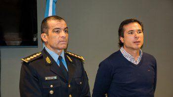 Rubén Tissier, jefe de la Policía, y José Gerez, jefe de los fiscales.