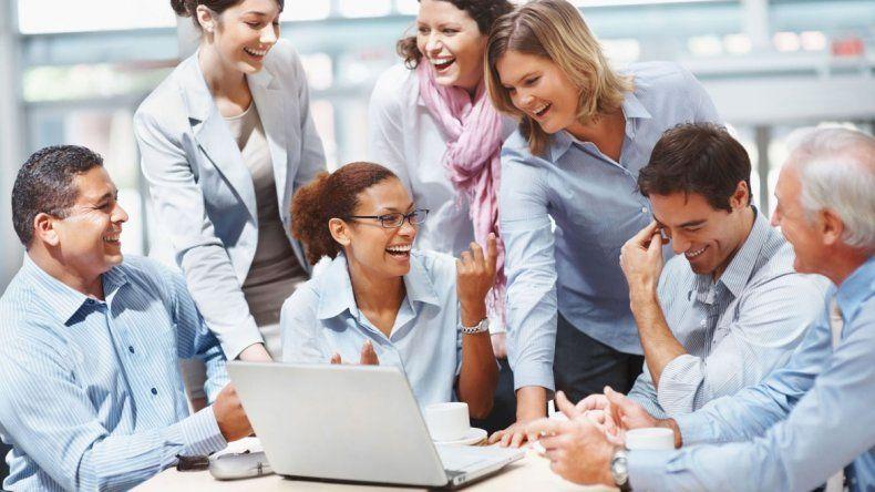 El empleado encuentra en el grupo las posibilidad de liberar su estrés.