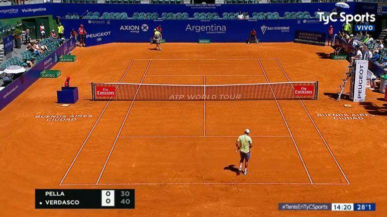 Pella bajó a Verdasco y se metió en cuartos del ATP de Buenos Aires